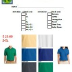 Shirt Order Form Icon