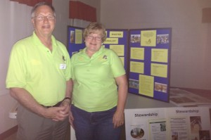 Geoff Payne and Lynn Wehner, Pres, and VP of Virginia Master Naturalist